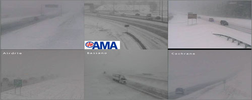 Collection of AMA highway cams from southern Alberta - April 19/2008