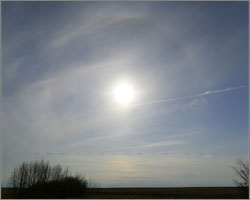 Sun halo over western Alberta - May 1/2008