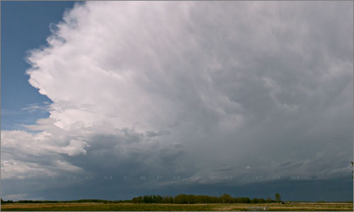 Spring thunderstorm west of Spruceview,AB - 2:11pm May18/2008