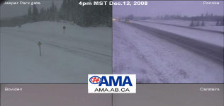 AMA highway camera collection from noon Dec.13, 2008