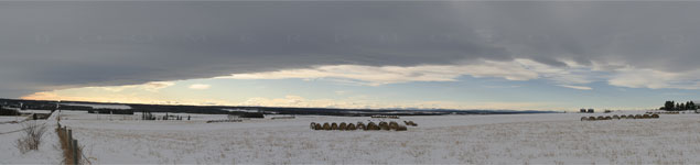 Chinook arch over the Alberta Foothills - Dec.27, 2008