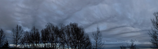 Waves fill the sky as a clipper low forms overhead - Nov.26, 2009