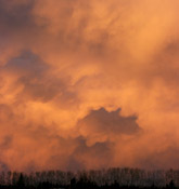 Virga Sunset from west of Red Deer,AB - March 29, 2010