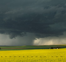 Supercell thunderstorm west of Balzac, Alberta - 6:22pm July 30, 2010