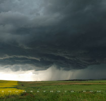 Supercell thunderstorm west of Balzac, Alberta - 6:33pm July 30, 2010