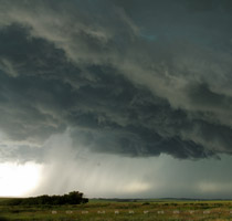 Supercell thunderstorm southwest of Balzac, Alberta - 6:38pm July 30, 2010