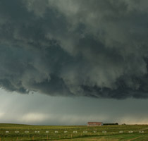 Roiling mass of Supercell guts heads for north Calgary - Stoney Trail and RR13 - 6:40pm July 30, 2010