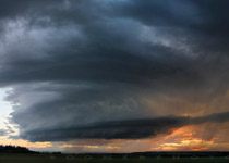 Supercell thunderstorm west of Sundre, Alberta  - 9:15pm August 8, 2010