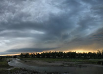 Supercell thunderstorm over the Alberta foothills, from James River Bridge - 8:30pm August 8, 2010