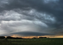 Supercell thunderstorm over the Alberta foothills, from Bearberry road - 8:45pm August 8, 2010