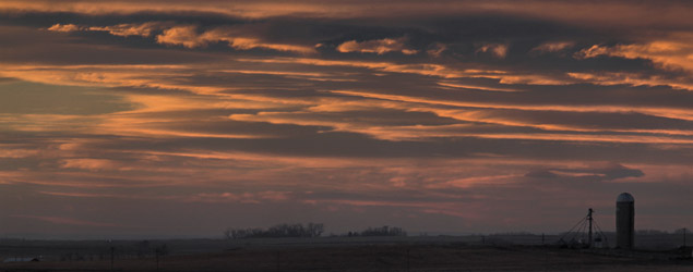 Lenticular sunset over western Alberta - Nov.4, 2010