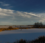 Christmas day standing wave from just south of Red Deer,AB - Dec.25, 2010