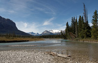 North Saskatchewan river in the Rocky Mountains near whirlpool point - Sept. 4, 2011