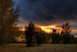 Golden autumn sunset west of Red Deer,AB - Sept.25, 2011