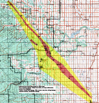 090809 Hailstorm track map