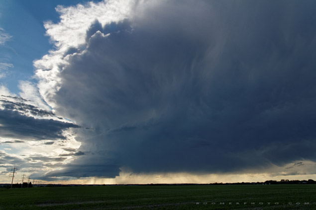 Supercell near Rocky Mountain House - June 21, 2011