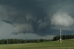 Tornado on the ground east of Sundre - July 7, 2011