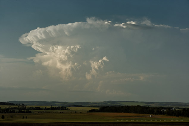 Supercell East of Drayton Valley, AB - July 29, 2007