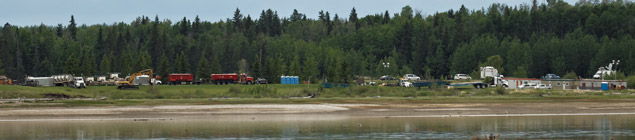Emergency command center on the west end of Gleniffer Lake - June 8, 2012