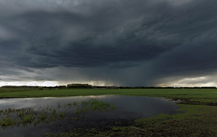 Thunderstorm northwest of Spruceview,AB - June 17, 2012