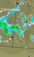 Canadian prairie RADAR loop June 25-27, 2012