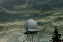 Weathermod radome at Olds - Didsbury Airport - July 1, 2012