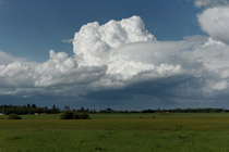 Thunderstorm west of Sylvan Lake, AB - July 5, 2012