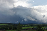 Stranded updraft in a high shear environment northwest of Rimbey, Alberta, July 23, 2012