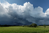 High shear, fast moving storm north of Eckville, Alberta, July 23, 2012