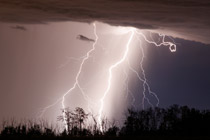 Heavy lightning near Penhold , Alberta - August 4, 2012