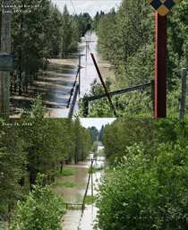 Range road 22 south of hwy#54 flooding June 19, 2005 vs June 21, 2013
