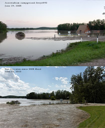 Asoowahum campground flooding June 19, 2005 vs June 22, 2013