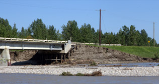 Garrington Bridge damage July 1, 2013