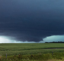 Thunderstorm west of Penhold, AB - 3:10pm July 11, 2013