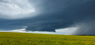 Supercell thunderstorm West of Rimbey, AB - July 20, 2013