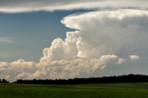 Thunderheads over the Alberta foothills west of Rocky Mountain House, AB - August 13, 2013