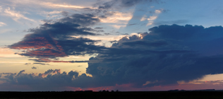 Next storm in line builds near Rocky Mountain House, AB - August 16, 2013