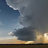 Low precip supercell west of Eckville, AB - August 16, 2013