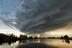 Supercell thunderstorm southwest of Eckville, AB - August 16, 2013