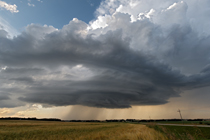 Supercell thunderstorm south of Eckville, AB - August 16, 2013