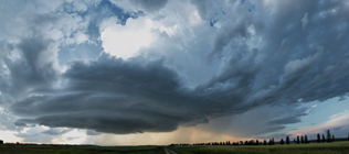 Supercell thunderstorm near Benalto, AB - August 16, 2013