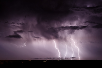 Lightning east of Ponoka, AB - August 26, 2013